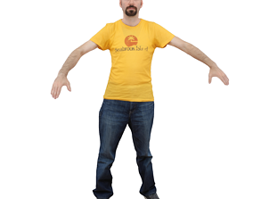 No218 - Male T Pose 3D model