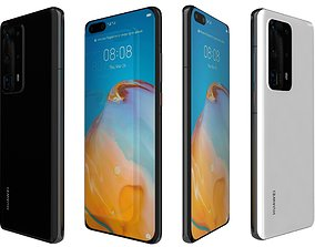 Huawei P40 Pro Plus Black And White 3D model