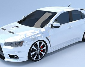 Mitsubishi Lancer Evolution X 3D model