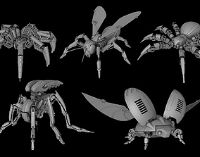 3D printable model Robot insects pack