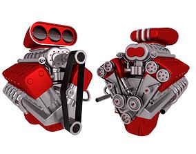 turbo 3D model V12 Engine