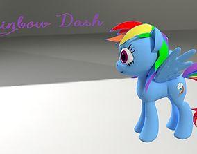 My Little Pony RainBowDash 3D Model VR / AR ready