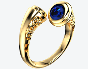 Fancy Scroll Dress Ring 3D print model