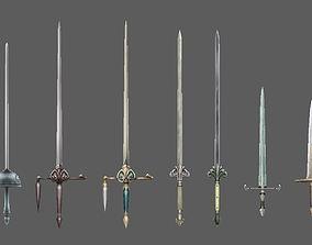 weapon sword 3D model realtime