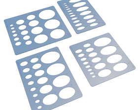 3D printable model Ellipse Templates - Set of 4