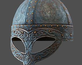 3D model Stainess Viking Helmet