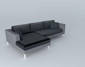 3D 5 seater sofa DUBLIN slate