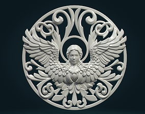 Angel relief Tracery 3D print model