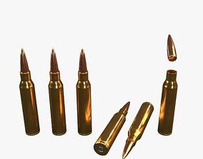 3D asset Lapua Magnum Low Poly bullet