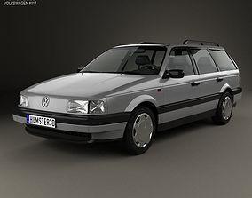 Volkswagen Passat B3 variant 1988 3D model