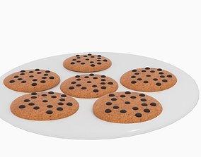 3D asset Cookie Chocolate