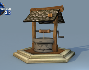 VR / AR ready Medieval Water Well Lowpoly 3D Model