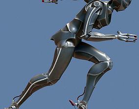 3D asset Servoid antropomorphic servant android