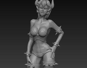Bowsette - Princess Bowser - FDM and SLA 3D printing 1