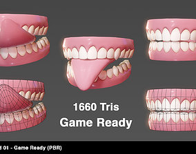 3D asset Teeth Stylized 01 - Game Ready PBR -