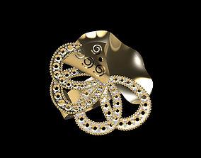 silver printable Gold Ring 3D print model