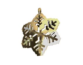 snowflake pendant rhino design 3D print model