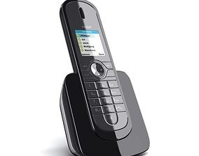 3D Black cordless home phone 36 AM78