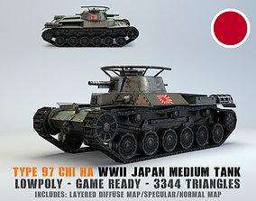Low Poly Type 97 Chi Ha medium tank 3D asset