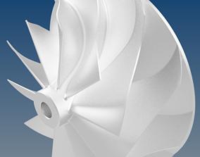 3D print model Turbocharger Centrifugal Compressor