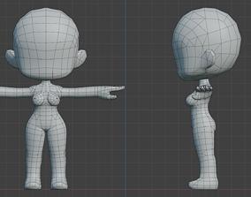 Maple Story - Girl Basemesh 3D asset