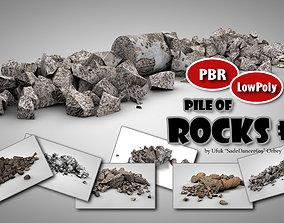 3D asset Rock Piles 1
