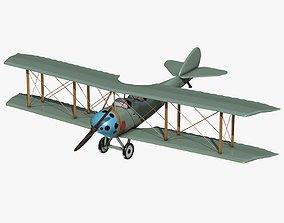 3D model Blue Biplane