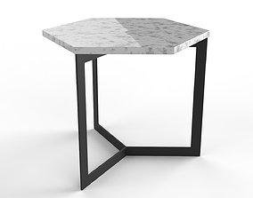 Side Table Hex 3D model