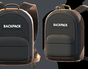 Backpack military combat soldier armor scifi 3D asset 1