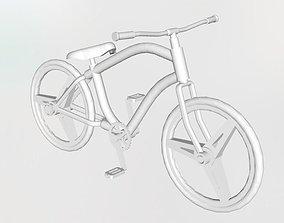 Cruiser bicycle 3D printable model