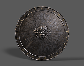 Medieval Round Shield Armor - Low Poly PBR 3D asset