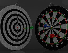 3D Double Sided Dart Board Game