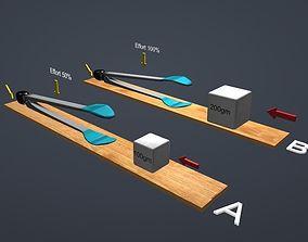 Third-class lever 3D