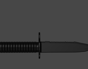 Low-Poly Bayonet-Knife 3D model