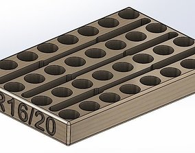3D printable model ER16 - ER20 Collet Tray