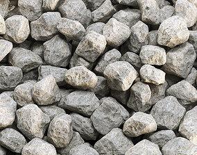 Gray gravel 3D