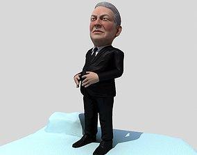 3D asset Al Gore caricature