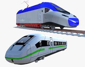 High-speed trains 3D