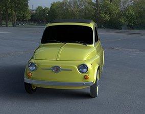 3D Fiat 500D Nuova 1960 HDRI