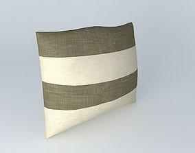 Horizontal Stripe Pillow 3D