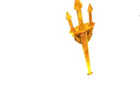 realtime Poseidons-trident 3D-modell