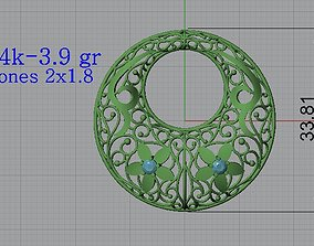 Ultra Lighter Heart Pendant 5 Jewelry 3D printable model