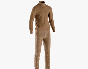 Mens Boots with Pants Pullover Hat 15 3D asset