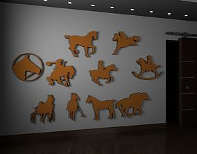 Horses jewerly parts animal 3D printable model
