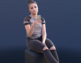 Sheona 10449 - Casual Sitting Girl 3D asset