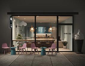 Interior Scene 03 - Ice Cream Shop 3D asset