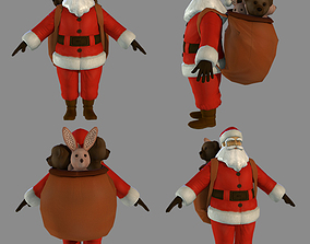 3D model rigged Santa Claus