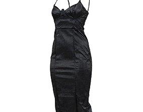 3D model Structured Vinyl Dress