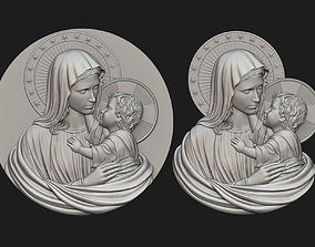 3D print model Mary with Child Medallion