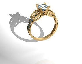 jewelry Diamond Ring 3D print model